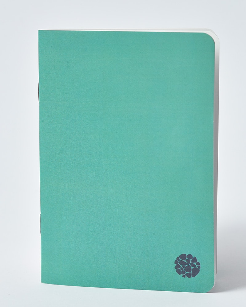 Roca Stone paper notebook Pocket Journaly Green