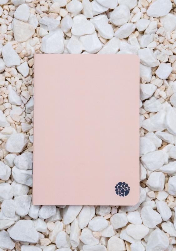 Roca stone paper - Pocket Journal A6 - Pink