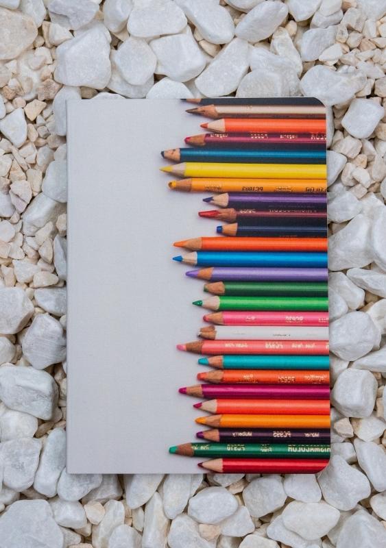 Roca stone paper notebook - A6 - Pencils