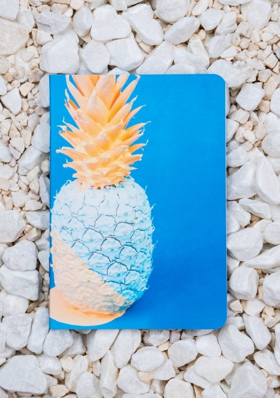 Roca stone paper notebook - A6 - Pineapple