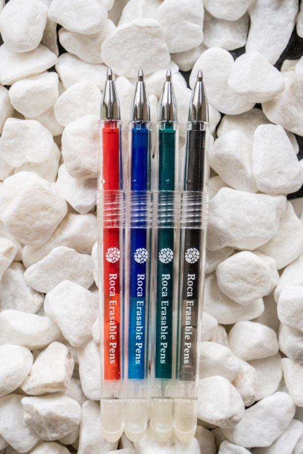 Roca erasable pens all colors caps open